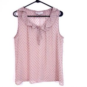 Tops - Loft sleeveless blouse. Size: L